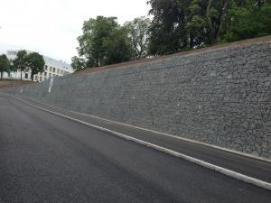 Ny mur & väg